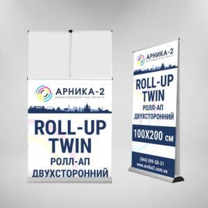 Ролл-ап двухсторонний TWIN 100x200